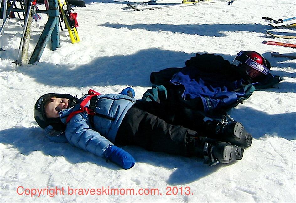Tired skier