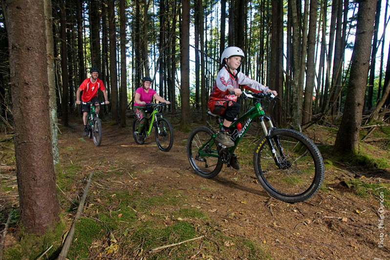 snowshoe bike park family