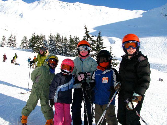 alyeska bright helmets kids skiing