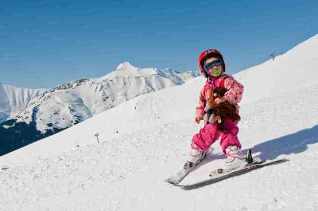 cute little skier Alyeska alaska