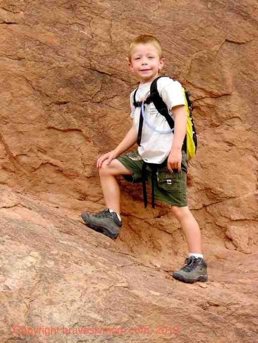 hiking on slickrock colorado national monument