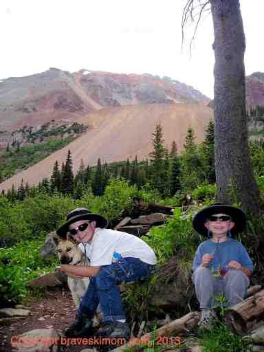 hiking above matterhorn campground near telluride colorado