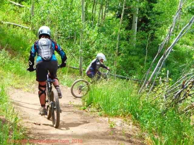 downhill biking bike snowmass