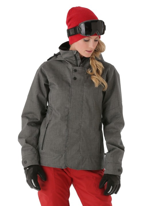 Burton Women's Jet Set Jacket in Heathered True Black
