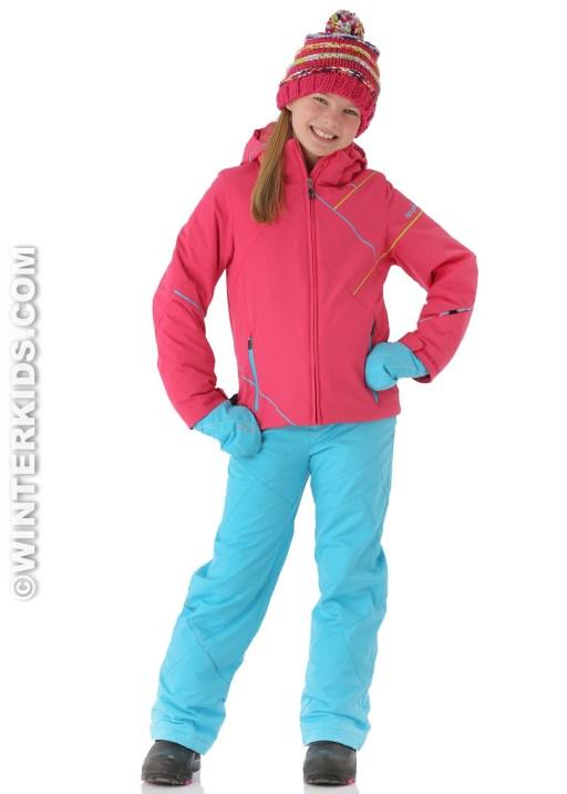 Spyder Girls Tresh Jacket in Diva Pink/Splash/Sharp Lime