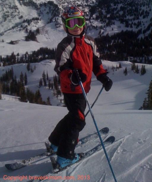family skiing alta utah