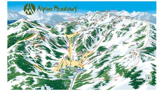 alpine meadows front side trail map