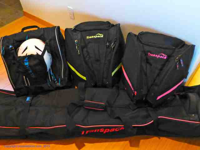 kulkea and transpack ski boot bags