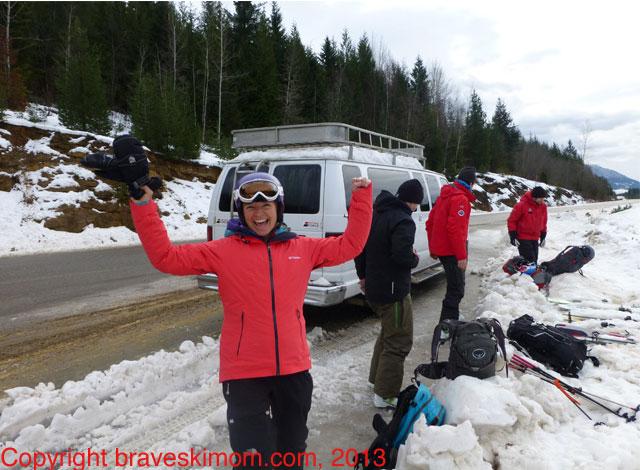happy heli skier canada