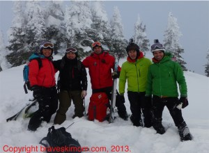 heli ski group shot