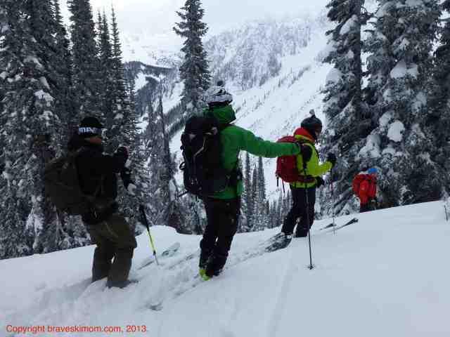 tree ski selkirk mountains
