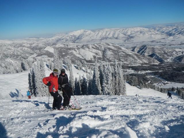 Jessica Averett skiing bring the kids