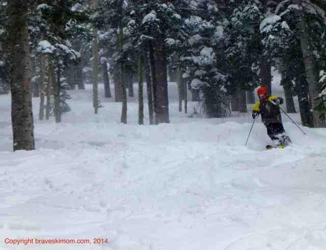 tree skiing deer valley