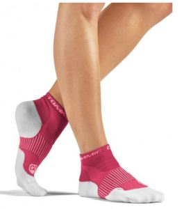 Women's performance compression athletic ankle socks