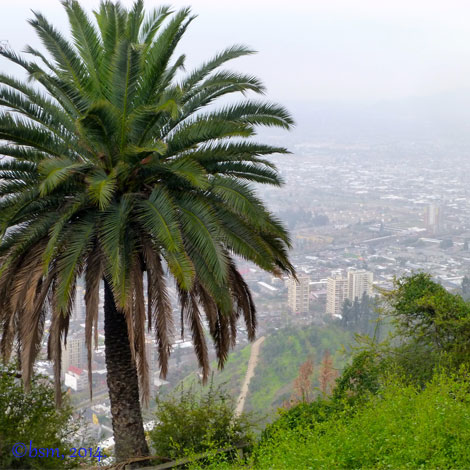 santiago view from cerro san cristobal