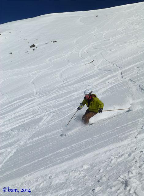 skiing powder at ski portillo chile