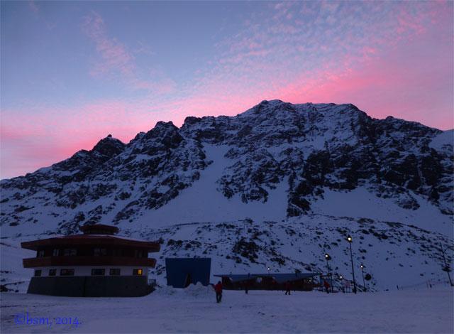 ski portillo sunset octagon lodge