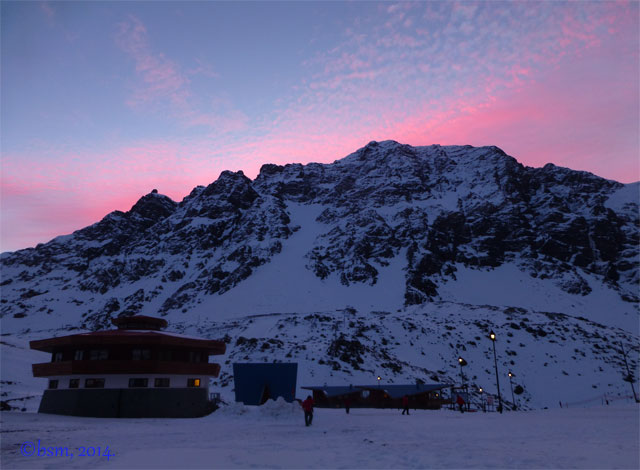 ski portillo sunset octagon lodge