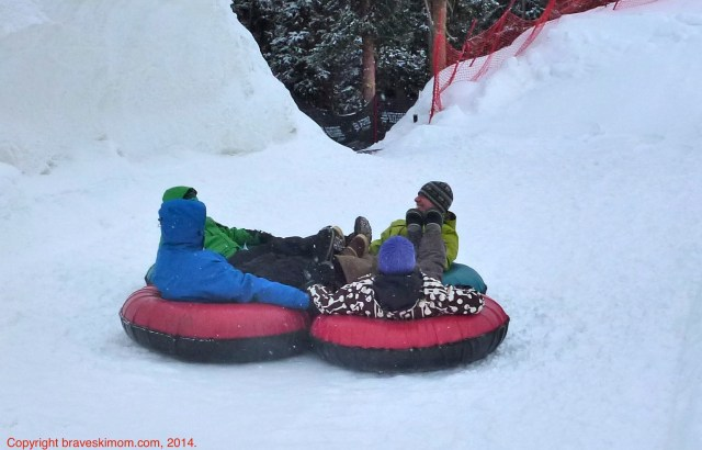 Although at first we were skeptical, family tubing has become one of our favorite non-activities! Here, at Keystone Resort.