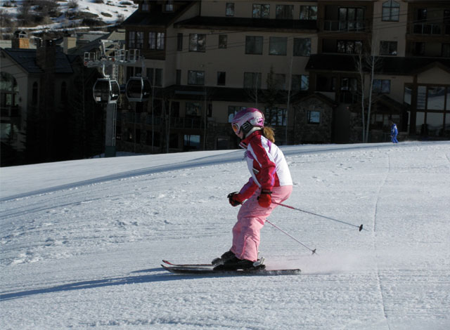 daughter skiing beaver creek