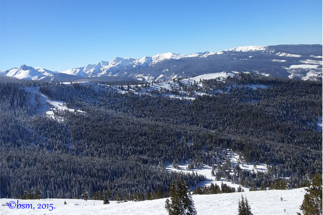 skiing views vail