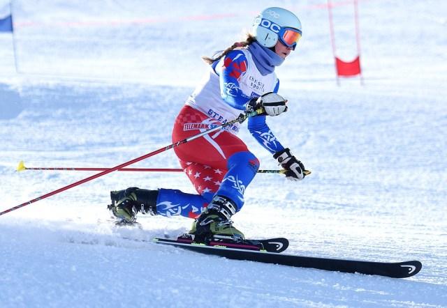 telemark ski racer madi mckinstry