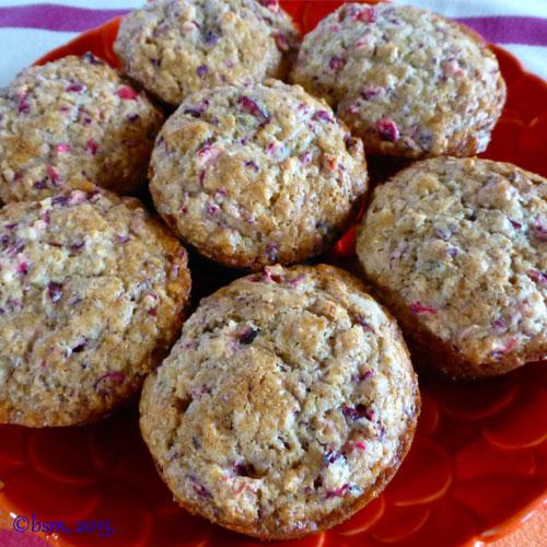 cranberry walnut muffins