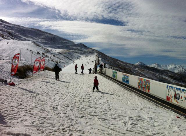 magic carpet learn to ski treble cone