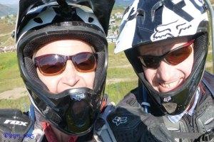 dh biking selfie crested butte