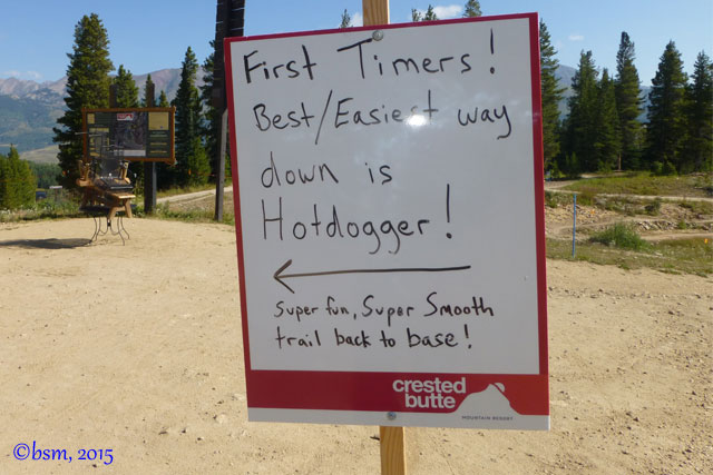hotdogger dh trail crested butte bike park
