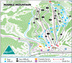 marble mountain trail map