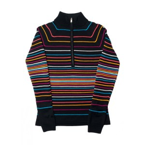 spyder alyx 1/2 zip ski sweater black