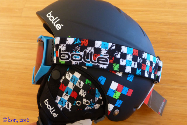 bolle b free helmet and goggles