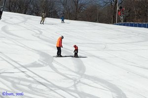 small skiers buck hill
