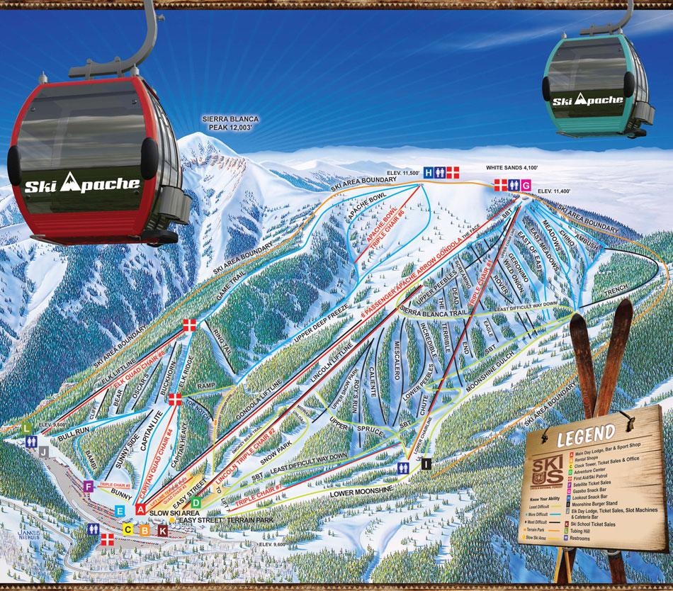 on ski apache trail map