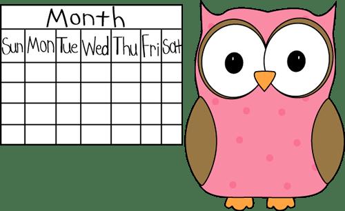 owl school calendar