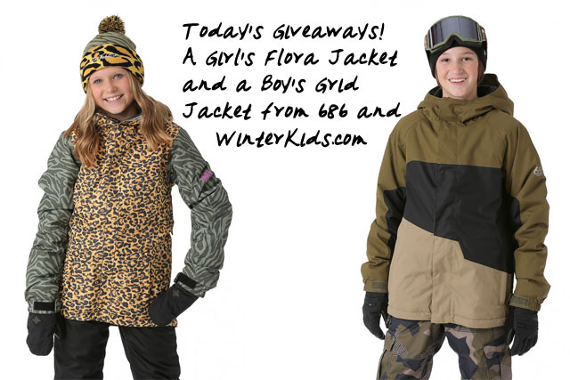 686 jacket giveaways from winter kids.com
