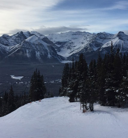 beautiful lake louise ski resort