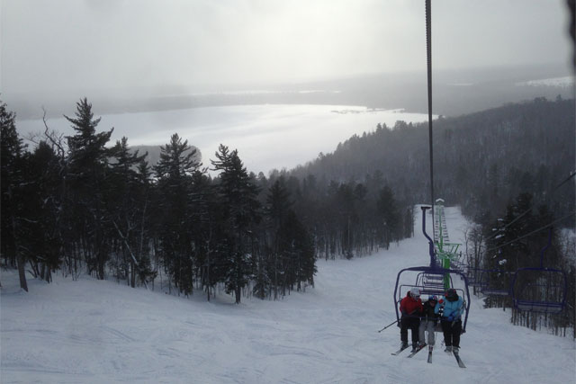 mt bohemia chairlift lake superior