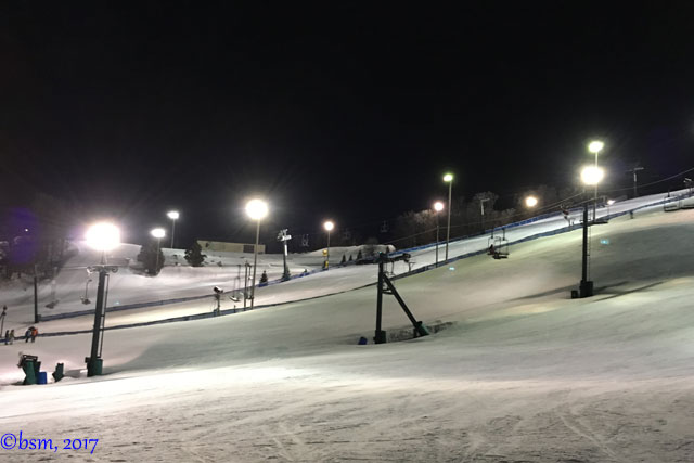 buck hill at night