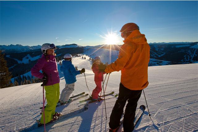 family skiing vail
