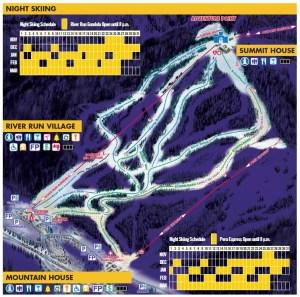 keystone night skiing map