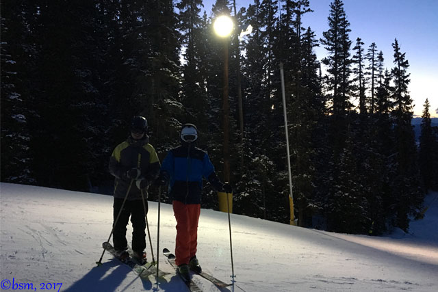 family nigh skiing Keystone