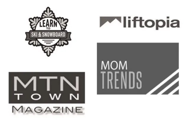 logos for liftopia mtn town magazine mom trends and learn to ski and snowboard month