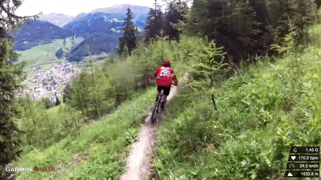 mountain biking the rescued trail in Italy's tyrol