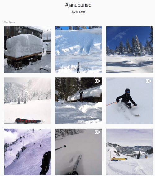 #JanuBuried Instagram photos from Squaw Valley Alpine Meadows