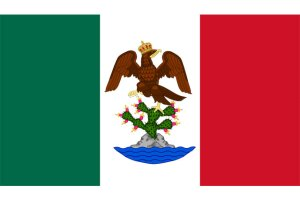 flag of the first mexican empire 1821-1823