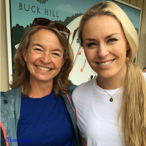 lindsey vonn and brave ski mom