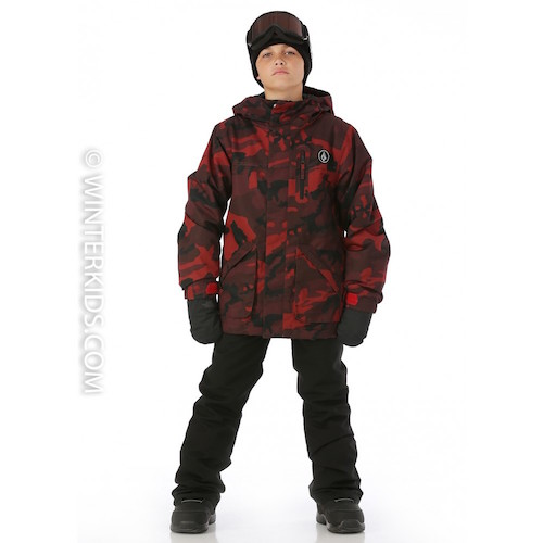 Volcom Boys VS Jacket in Red