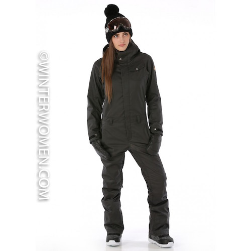 Nikita Mondrana One Piece ski/snowboard suit for women in Black